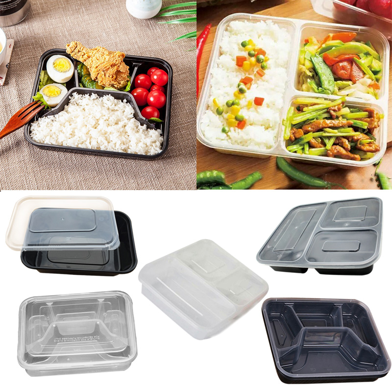 77dc24c326f0 US $7.28 35% OFF IVYSHION 10Pcs/Set Meal Prep Plastic Food Container  Microwavable Lunchboxes Disposable Lunch Box Snack Bento Box Picnic With  Lid-in ...