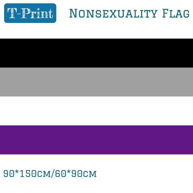 Free shipping <font><b>Asexuality</b></font> Nonsexuality <font><b>Flag</b></font> 3X5ft Polyester Banner Flying 150*90cm 60*90cm LGBT <font><b>Flags</b></font> image