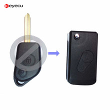 Keyecu Replacement Folding Remote Key Shell for CITROEN Saxo Xsara Picasso Berlingo 2B