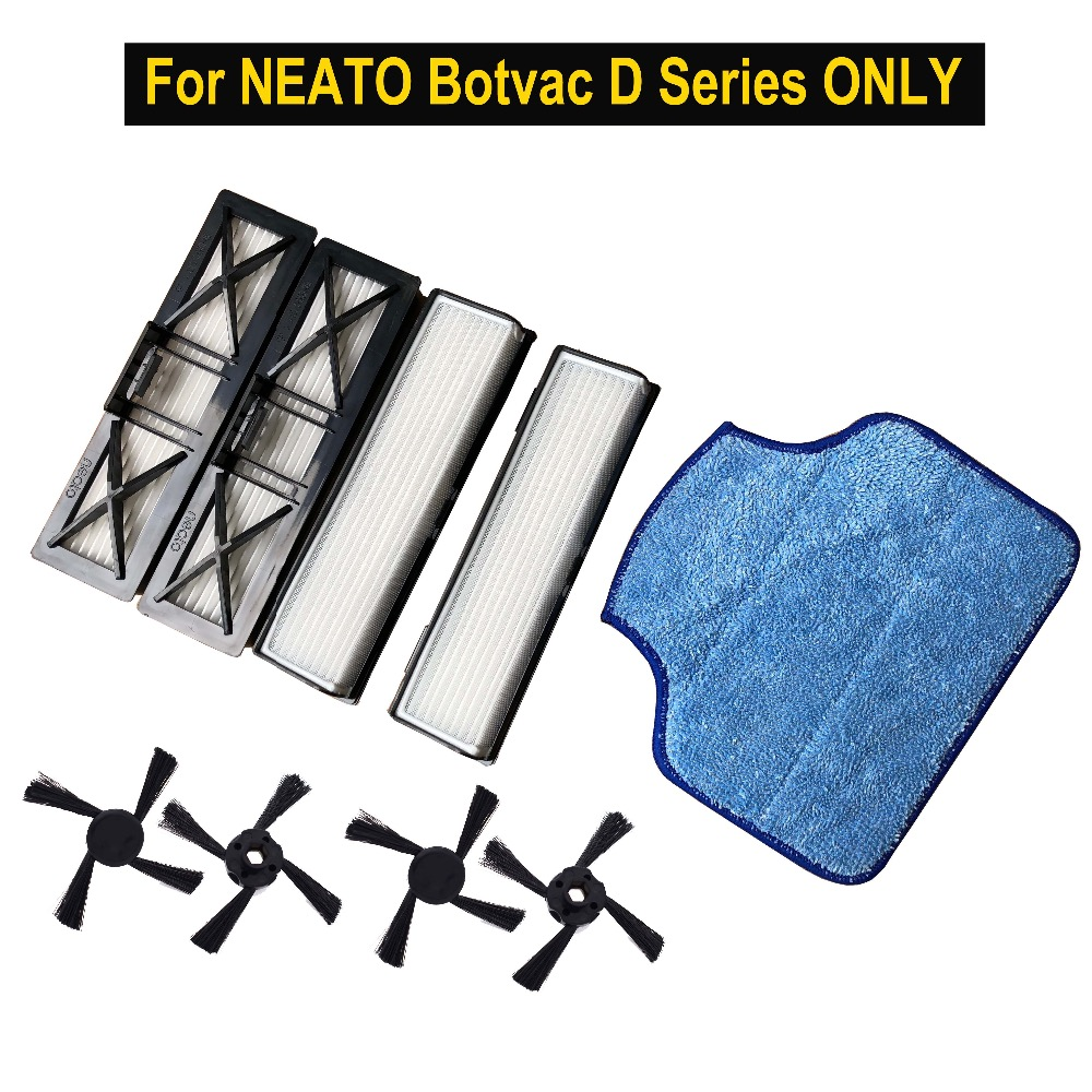 CLEAN DOLL Mop pad HEPA Fillter Magnetic side brush for Neato Botvac D & connected D75 D80 D85 Botvac 65 70e 75 80 85 FILTER neato botvac d85