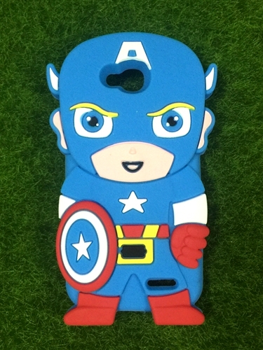 LG Optimus L90 D410 Covers New Cartoon 3D Captain America Super Heros Soft Rubber Back Phone Cases - LONWAY Electronics technology Co. Ltd store