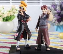 New Arrival 2PCS/Set Naruto Deidara VS Gaara PVC Action Figures Collectible Model Toys 17CM Free Shipping