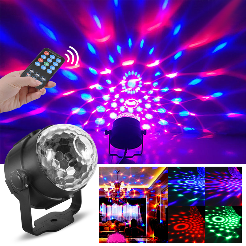 Dj Disco Ball Projector Christmas Light Effect Party Music Lamp Led Stage Light Disco Lights Lumiere Sound Activated Laser Commercial Lighting Lights & Lighting