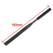 Uxcell Hot Sale 1 Pcs 182mm Length Black Plastic Handle Metal Flat Half Round Needle Files