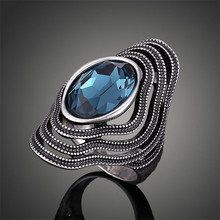 Trendy Fashion Beautiful as Described Vintage Antique Silver Bohemian Boho Rings for Women maxi Ring Anillos Bague Femme J02326