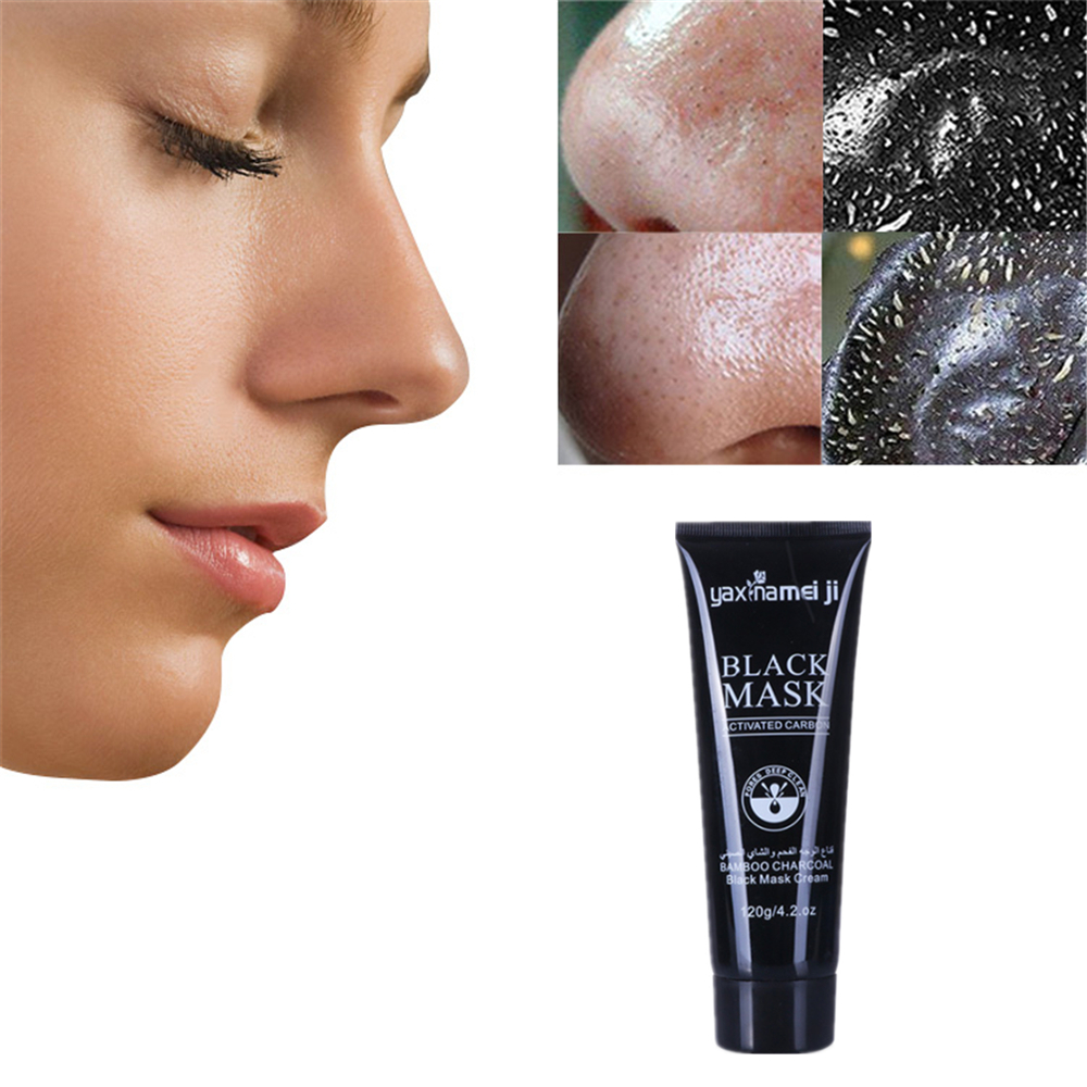 Bamboo Charcoal Blackhead Remove Facial Masks Cleansing Pores Purifying Peel Off Black Nud Facail Face Black Mineral Mud Mask