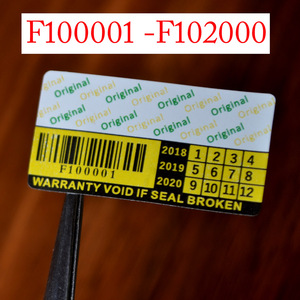 Image 2 - 무효 보증서 깨지기 쉬운 종이 스티커 원래 보안 스티커 상자 시리즈 번호 F100001 to F104000
