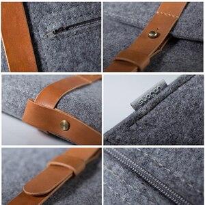 Image 5 - Yün keçe ince çanta Laptop çantası 15.6 için Macbook Xiaomi Samsung Lenovo 11 12 13 14 15 15.6 dizüstü bilgisayar çantası taşınabilir kapak