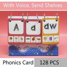 128Pcs/set English Phonics Root Pronunciation Rules Kids Montessori Learning English Word Card Educational Toys For Children