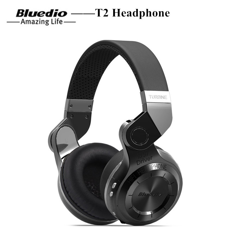 Bluedio T2 Wireless Bluetooth Headphone Foldable Style Bluetooth V4.1 EDR Wireless SD Card Bluetooth Headset For Mobile Phone PC