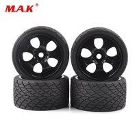 4pcs/set 17mm Hex Wheels Tires and Rims fit 1:8 RC Bigfoot On Road Car Model Accessories