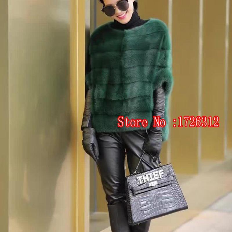 Nuevo abrigo de piel de visón real para mujer Invierno cálido y - Ropa de mujer - foto 5