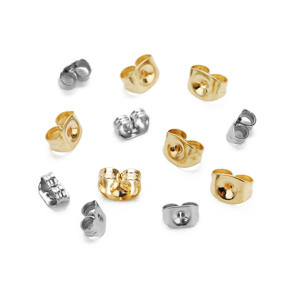 10pcs lot 316L Stainless Steel 6 20MM Gold Silver Tone Blank Round Earring Stud Base Tray Bezel Fit DIY Cabochon Jewelry Finding in Jewelry Findings Components from Jewelry Accessories