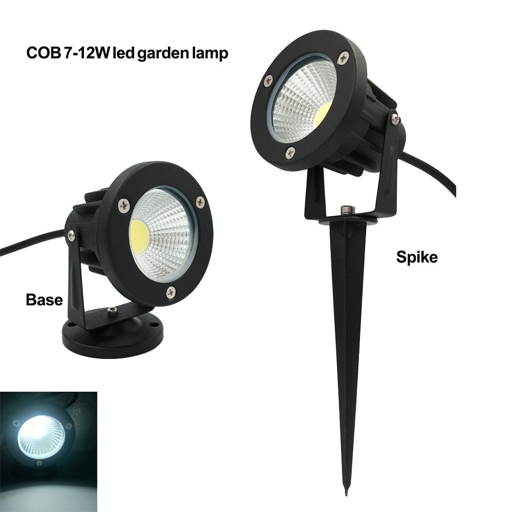 Led COB Lawn Lamps 3W 5W IP65 Waterproof LED Flood Spot Light Bulb For Garden Pond Path Outdoor Lighting with Insert Needle Pin