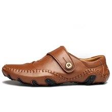 2016 НОВЫЙ Британский Стиль мужчины повседневная бизнес обувь удобная мода дышащая мужчины обувь для вождения Натуральная Кожа Уличной Обуви