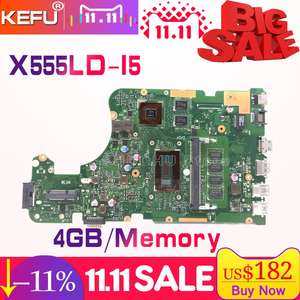 SHELI For ASUS X555LD X555LP X555LJ X555LDB X555LB X555LN X555LF X555L I5 laptop motherboard tested 100% work original mainboard original interface for asus x555ld a555l x555lj x555lb x555lp x555ln x556u interface on hdd board and on motherboard