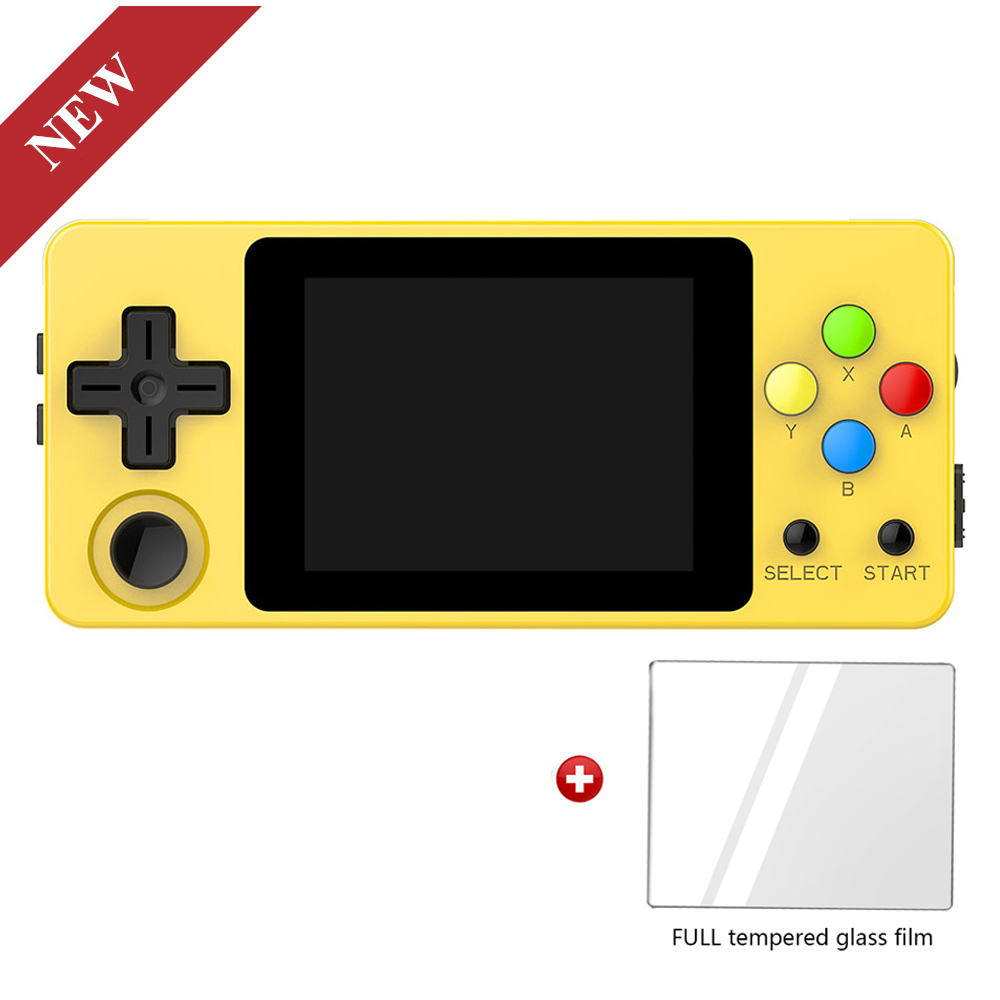 LDK Landscape Version+Tempered glass film, 2.6inch Screen Mini Handheld Game Console.Handle game players. Three colours in stock-in Handheld Game Players from Consumer Electronics