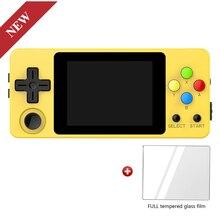 Ldk 조경 버전 + 강화 유리 필름, 2.6 인치 스크린 소형 소형 게임 장치. 게임 플레이어를 취급하십시오. 재고 있음 3 색