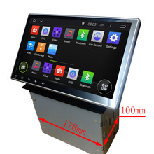2din New universal 10.1 Inch Android Quad core 1024*600 Car Radio Double 2 din Car DVD Player GPS Navigation Car PC
