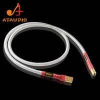 ATAUDIO posrebrzane QED Hifi kabel usb wysokiej jakości typu A do B DAC kabel usb do transmisji danych