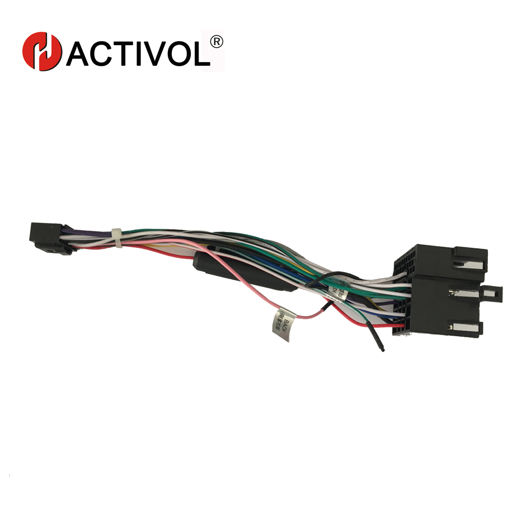 2 din car radio iso plug power adapter wiring harness for kia forte sportage  hyundai tucson iso power harness for car dvd player