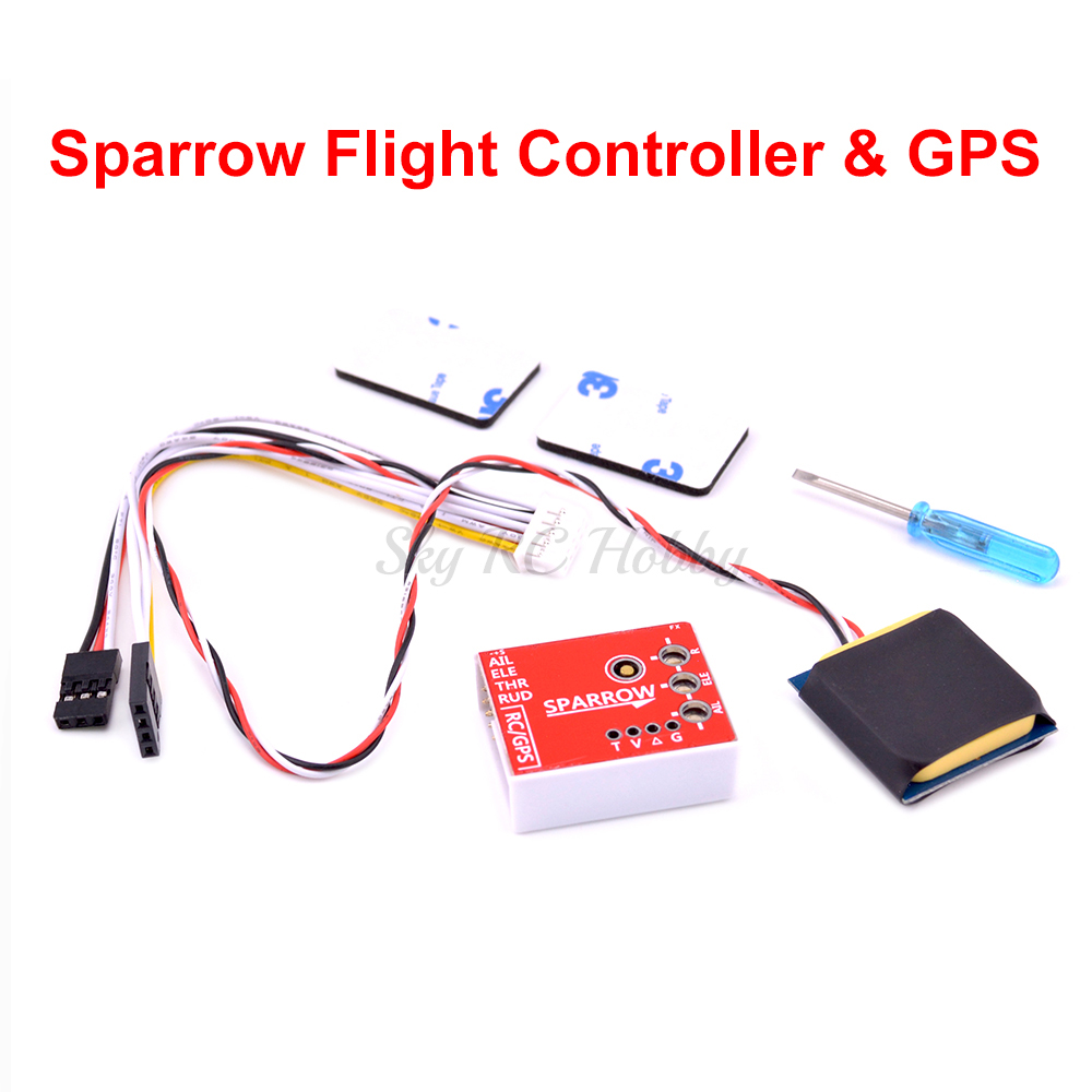 Sparrow Flight Controller With GPS Compass Fence Mode For Mini Fixed Wing FPV RC Airplane Sonicmodell VS U-MINI A3 Super NX3