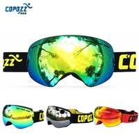 COPOZZ Gog 201 Winter Snow Ski Goggles Glasses Anti Fog Professional Snowboard Ski Eyewear Ski Masks Women Men