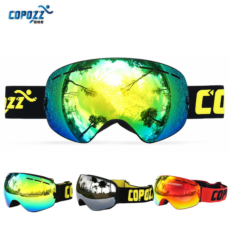 COPOZZ Gog-201 Winter Schnee Skibrille Brille Anti Fog Professionelle Snowboard Ski Brillen Ski Masken Frauen Männer
