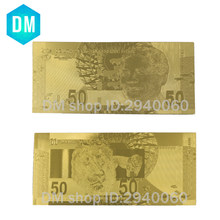 Good Full Set South Africa 10-200 Rand Gold Banknote 24K Golden Engraved, South Africa Gold Foil Replica Money Collection(China)