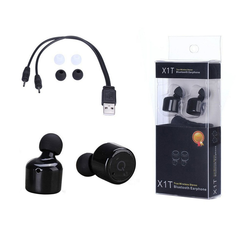 X1T Mini Twin Stero Bluetooth Earphone BT 4.0 Wireless Headphones Headset Handsfree Earpiece with Mic for iPhone Android Phones remax 2 in1 mini bluetooth 4 0 headphones usb car charger dock wireless car headset bluetooth earphone for iphone 7 6s android