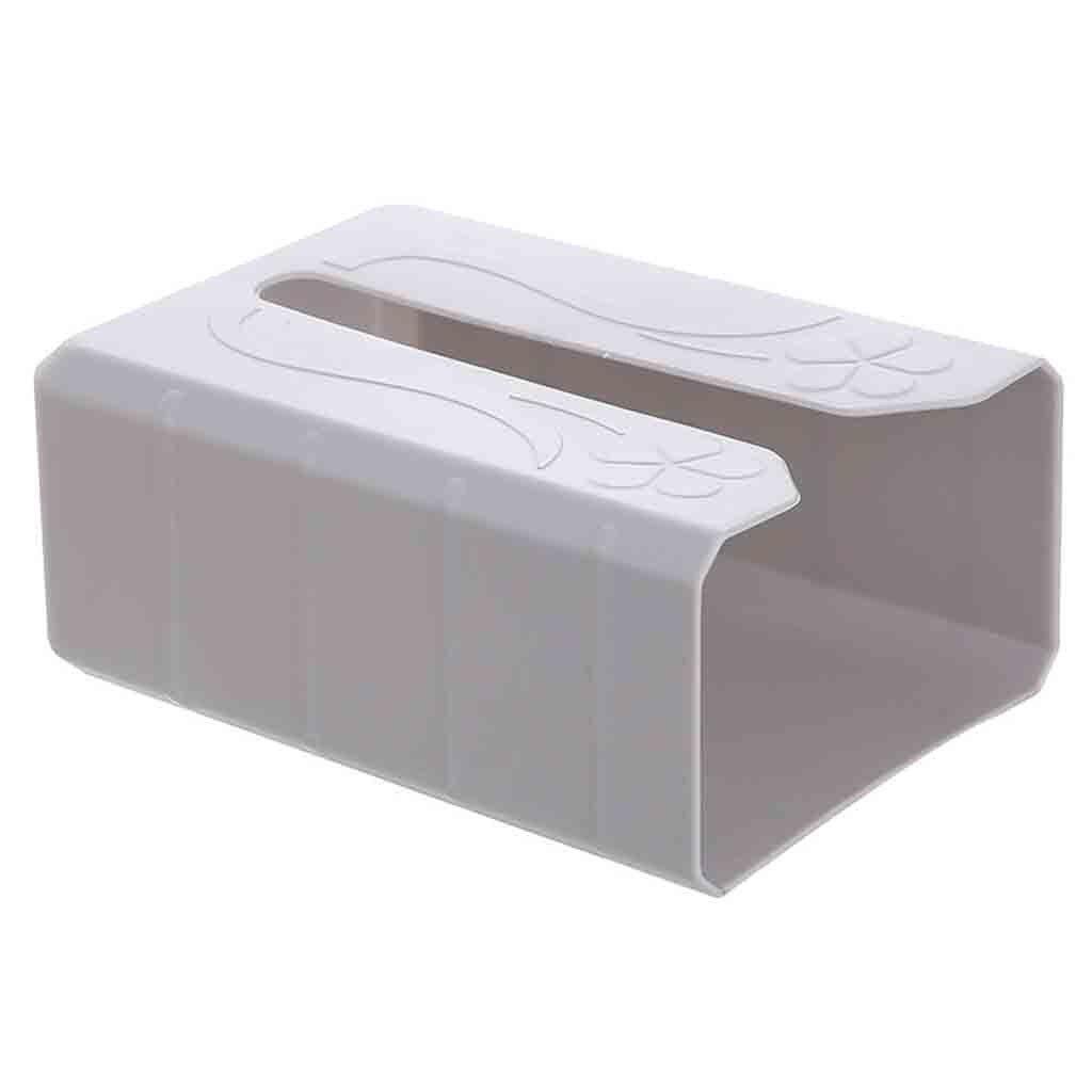 Бездырочный лоток для туалетной бумаги держатель для бумаги рулон Бумажная Коробка органайзер для полотенец Настенный водонепроницаемый для ванной комнаты#17/5 - Цвет: Gray
