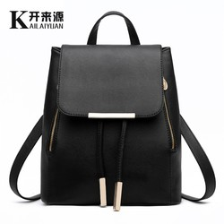 KLY 100% Genuine leather Women backpack 2018 New wave of female Korean student fashion casual backpack shoulder bag