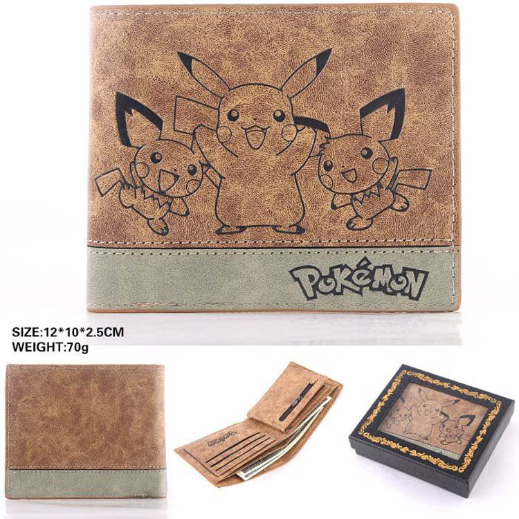 Japan anime Pocket Monster Pokemon pikachu cosplay wallet men women short purse leather pu coin card holder bag japan anime death note wallet cosplay long leather pu zipper purse