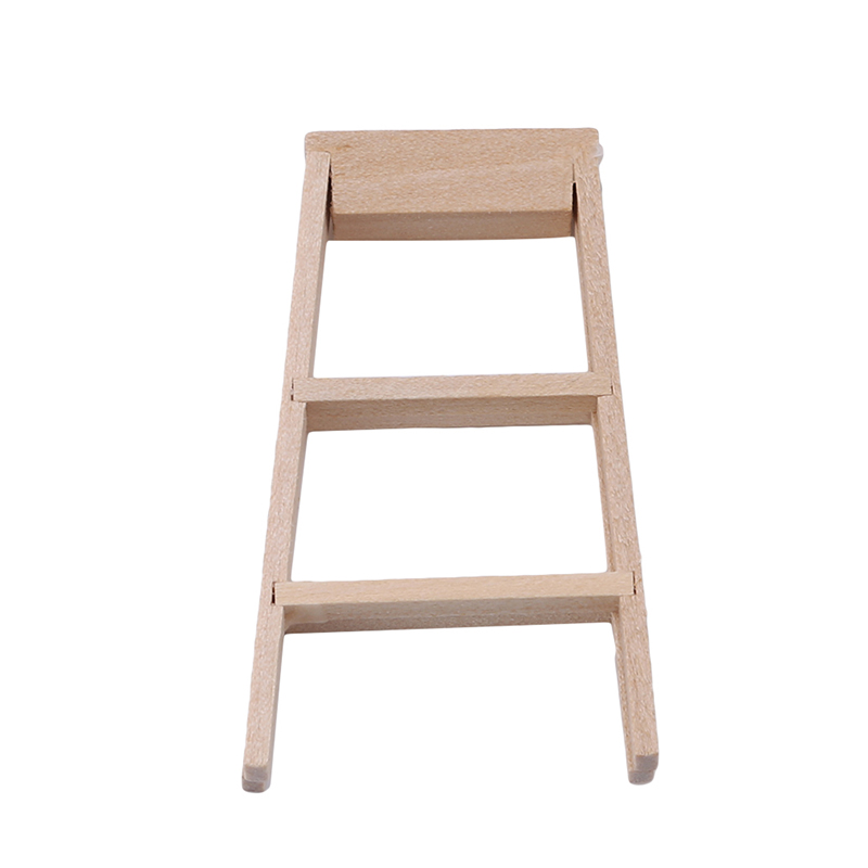 Hot 1:12 Doll House Miniature Furniture Wooden Ladder Toys Educational Wooden Doll Pretend Play Furniture Toys Best Gift