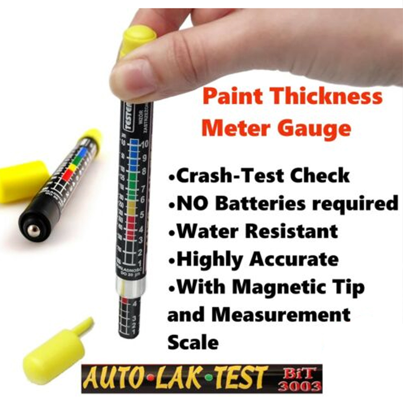 UTOOL Paint Thickness Meter Gauge BIT 3003 CRASH-TEST CHECK  1pc