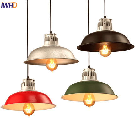 IWHD Retro Vintage Pendant Light Fixtures Loft Style Iron Industrial Lamp Kitchen Dining Hanglamp Home Lighting Luminaire iron cage loft style creative led pendant lights fixtures vintage industrial lighting for dining room suspension luminaire
