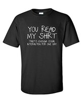 Create T Shirt Online Men S Short Sleeve That S Enough Social Interaction Sarcastic Crew Neck