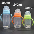 300ml baby feeding bottle wide mouth with self-motion straw 240ml nipple handles infant newborn feeding nursing nipple bottle
