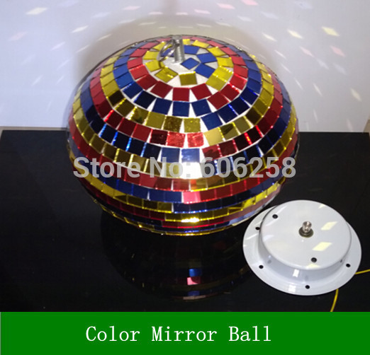 Colorfull Light Mirror Reflection Glass Ball Stage Festival Hanging Ball / Motor 10inch 19CM colorfull light mirror reflection glass ball stage festival hanging ball motor 10inch 19cm
