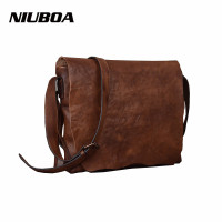 NIUBOA Women's Shoulder Bags Genuine Leather Vintage Single Messenger Bag Lady Hot Women Hand rubbed Skin Leather Crossbody Bags