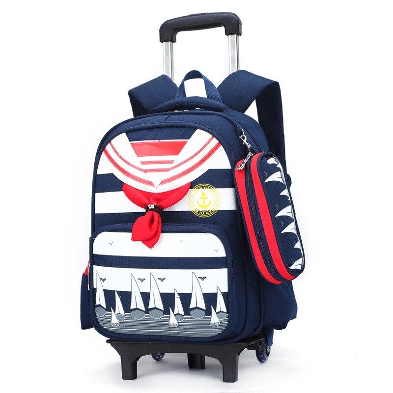 ФОТО New backpack with wheels mochila escolar women bag school bolsa feminina printing backpack for girls trolley student bags boys