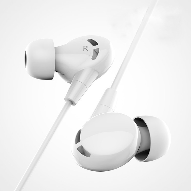 1pc In-ear Earphone 3.5mm Stereo Music Sports Headset with Mic for Smart Phone JR Deals