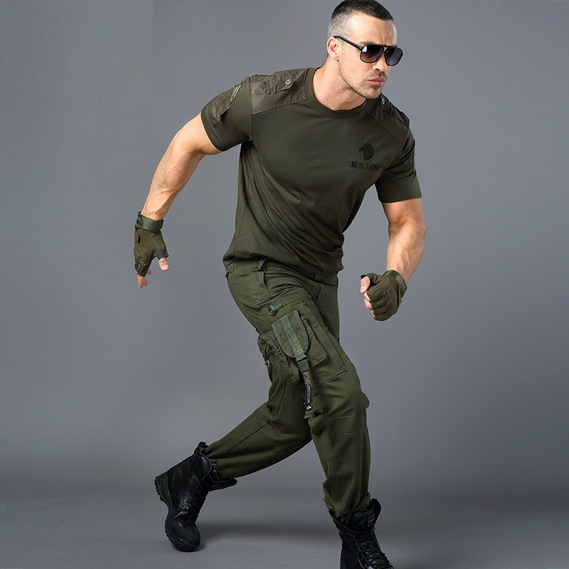 manga Camiseta corta táctica para camiseta militar uniforme de en militar camiseta estilo hombre camiseta negra hombres verde para para camiseta hombre ww6Or