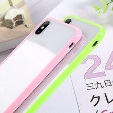 Lovebay transparente a prueba de golpes funda de teléfono para iPhone 11 Pro Max X XR Xs Max suave TPU Simple cubierta transparente para iPhone 6 iPhone 6 6s 7 7 Plus