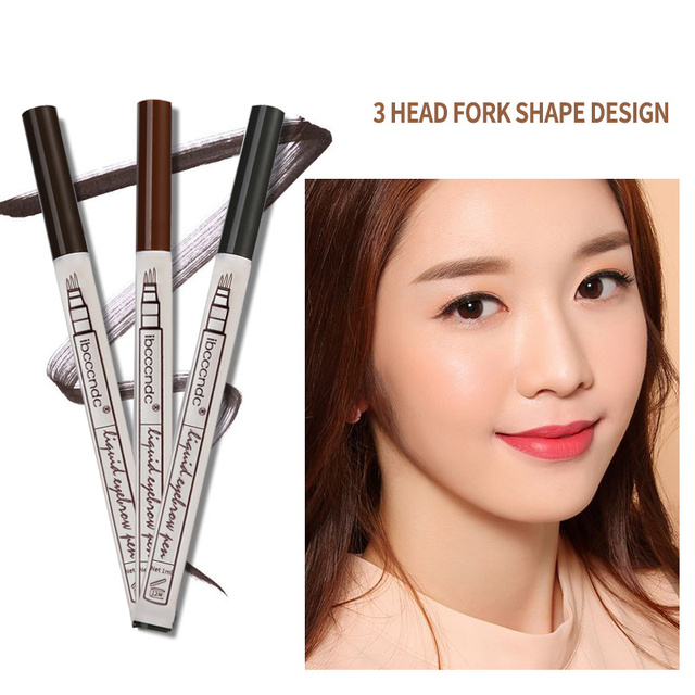 3 Colors Microblading Eyebrow Tattoo Pen Fine Sketch Liquid Eyebrow Pen Waterproof Tattoo Durable Eye Brow Pencil Smudge-proof 2