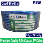 Premium Quality RG6 coax coaxial TV cable wire, Wholesales of 50M/lots, Quad Shielding,Free shipping.