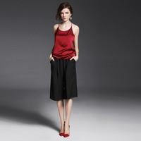 100% Silk Satin Camisole Pure Mulberry Silk Fabric Underwear Womens Tops Casual Camisole Organic Fabrics China Silk Factory