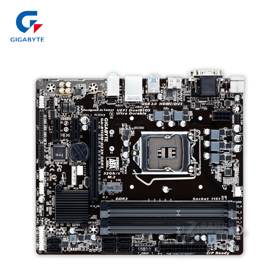 Gigabyte GA-B150M-DS3H DDR3 Original Used Desktop Motherboard B150M-DS3H DDR3 B150 LGA 1151 i3 i5 i7 Micro-ATX