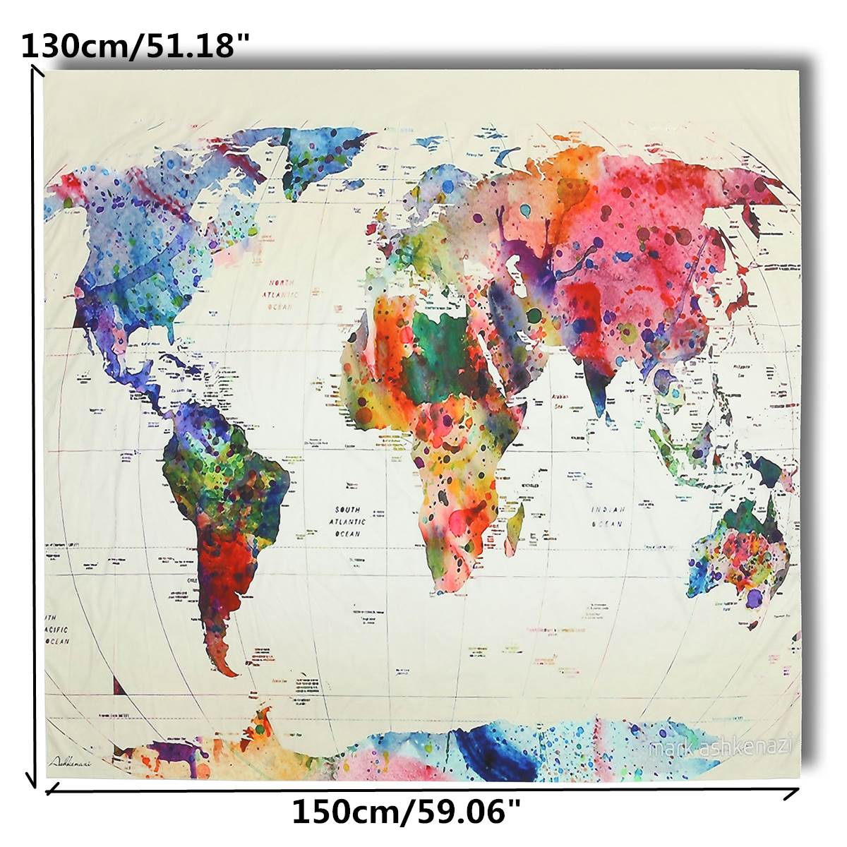 World map wall hanging tapestry indio mandala throw blanket colcha world map wall hanging tapestry indio mandala throw blanket colcha de polister hogar del dormitorio sala de estar decoracin 150x130 cm en tapices de hogar gumiabroncs Choice Image