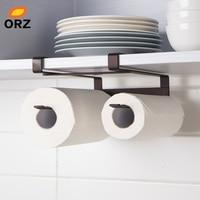 ORZ 2 층 주방 종이 홀더 교수형 수건 선반 욕실 화장실 롤 종이 홀더 주방 스토리지 캐비닛 주최자 선반
